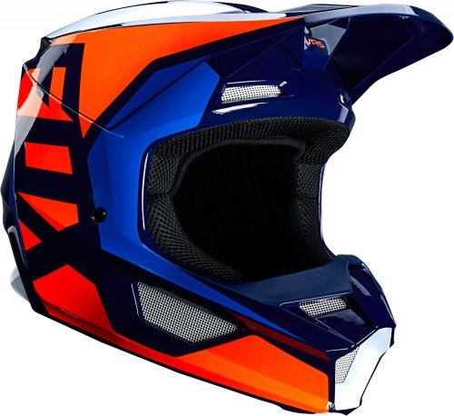 Fox V1 Lovl MX20 Helmet (blue/orange)